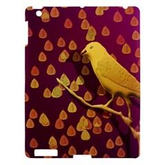 Bird Design Wall Golden Color Apple iPad 3/4 Hardshell Case