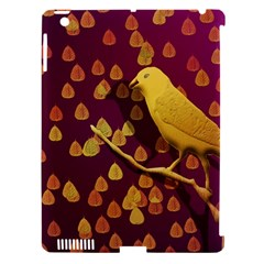 Bird Design Wall Golden Color Apple iPad 3/4 Hardshell Case (Compatible with Smart Cover)