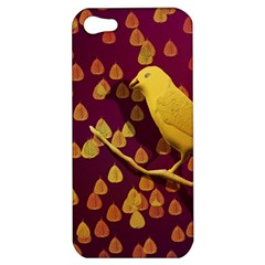 Bird Design Wall Golden Color Apple iPhone 5 Hardshell Case