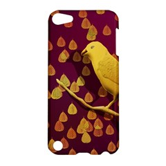 Bird Design Wall Golden Color Apple iPod Touch 5 Hardshell Case