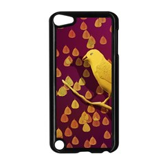 Bird Design Wall Golden Color Apple iPod Touch 5 Case (Black)