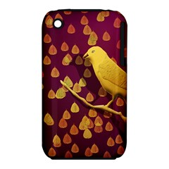 Bird Design Wall Golden Color iPhone 3S/3GS