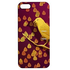 Bird Design Wall Golden Color Apple iPhone 5 Hardshell Case with Stand