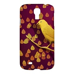 Bird Design Wall Golden Color Samsung Galaxy S4 I9500/I9505 Hardshell Case