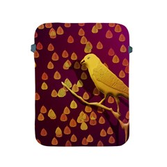 Bird Design Wall Golden Color Apple iPad 2/3/4 Protective Soft Cases