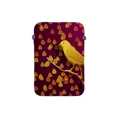 Bird Design Wall Golden Color Apple iPad Mini Protective Soft Cases