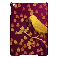 Bird Design Wall Golden Color iPad Air Hardshell Cases