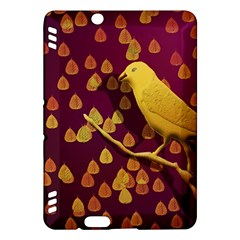 Bird Design Wall Golden Color Kindle Fire HDX Hardshell Case