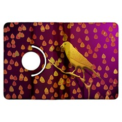 Bird Design Wall Golden Color Kindle Fire Hdx Flip 360 Case