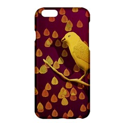 Bird Design Wall Golden Color Apple iPhone 6 Plus/6S Plus Hardshell Case