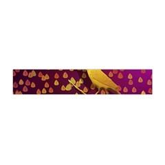 Bird Design Wall Golden Color Flano Scarf (mini)