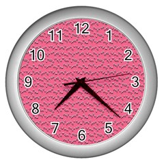 Background Letters Decoration Wall Clocks (Silver)