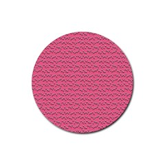 Background Letters Decoration Rubber Round Coaster (4 pack)