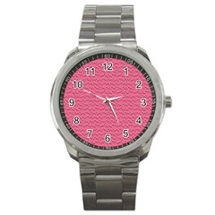 Background Letters Decoration Sport Metal Watch