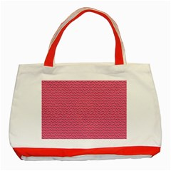Background Letters Decoration Classic Tote Bag (Red)