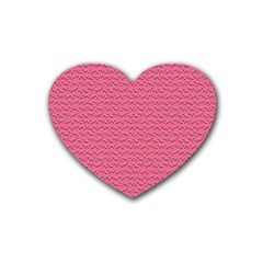 Background Letters Decoration Rubber Coaster (heart)