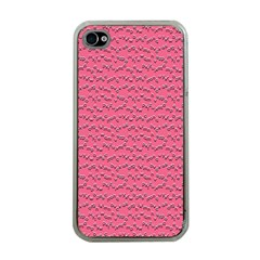 Background Letters Decoration Apple iPhone 4 Case (Clear)