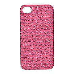 Background Letters Decoration Apple iPhone 4/4S Hardshell Case with Stand