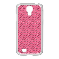 Background Letters Decoration Samsung GALAXY S4 I9500/ I9505 Case (White)