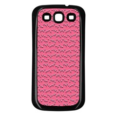 Background Letters Decoration Samsung Galaxy S3 Back Case (Black)