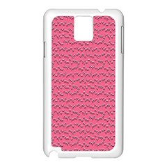 Background Letters Decoration Samsung Galaxy Note 3 N9005 Case (White)