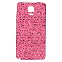 Background Letters Decoration Galaxy Note 4 Back Case