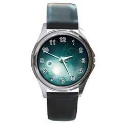 Astronaut Space Travel Gravity Round Metal Watch