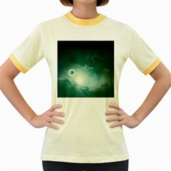 Astronaut Space Travel Gravity Women s Fitted Ringer T-Shirts