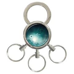 Astronaut Space Travel Gravity 3-Ring Key Chains