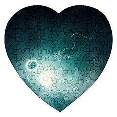 Astronaut Space Travel Gravity Jigsaw Puzzle (heart)