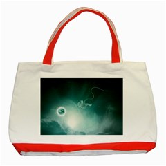 Astronaut Space Travel Gravity Classic Tote Bag (Red)