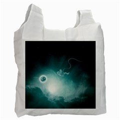 Astronaut Space Travel Gravity Recycle Bag (One Side)
