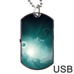 Astronaut Space Travel Gravity Dog Tag USB Flash (One Side)