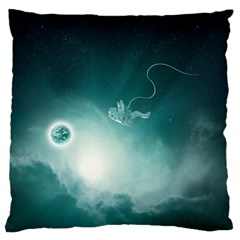 Astronaut Space Travel Gravity Large Cushion Case (Two Sides)