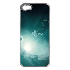 Astronaut Space Travel Gravity Apple iPhone 5 Case (Silver)