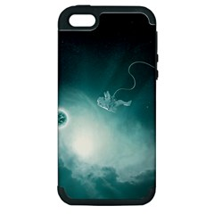 Astronaut Space Travel Gravity Apple Iphone 5 Hardshell Case (pc+silicone)