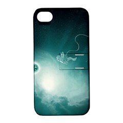 Astronaut Space Travel Gravity Apple iPhone 4/4S Hardshell Case with Stand