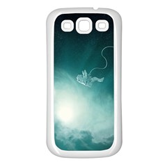 Astronaut Space Travel Gravity Samsung Galaxy S3 Back Case (White)