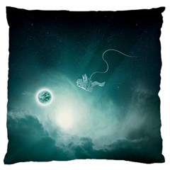 Astronaut Space Travel Gravity Large Flano Cushion Case (two Sides)