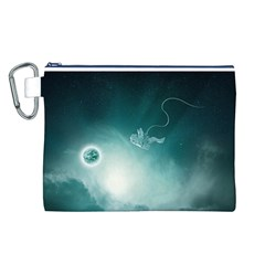 Astronaut Space Travel Gravity Canvas Cosmetic Bag (l)