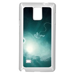 Astronaut Space Travel Gravity Samsung Galaxy Note 4 Case (White)