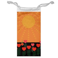 Love Heart Valentine Sun Flowers Jewelry Bag