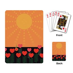 Love Heart Valentine Sun Flowers Playing Card