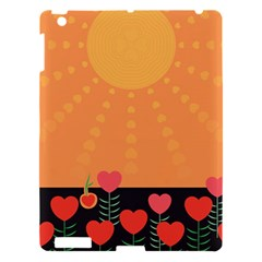 Love Heart Valentine Sun Flowers Apple iPad 3/4 Hardshell Case