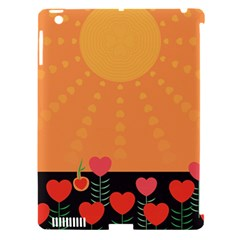 Love Heart Valentine Sun Flowers Apple Ipad 3/4 Hardshell Case (compatible With Smart Cover)