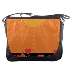 Love Heart Valentine Sun Flowers Messenger Bags