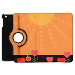 Love Heart Valentine Sun Flowers Apple iPad Mini Flip 360 Case
