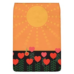 Love Heart Valentine Sun Flowers Flap Covers (L)