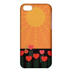 Love Heart Valentine Sun Flowers Apple iPhone 5C Hardshell Case