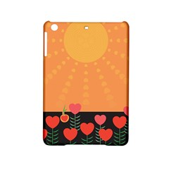 Love Heart Valentine Sun Flowers iPad Mini 2 Hardshell Cases